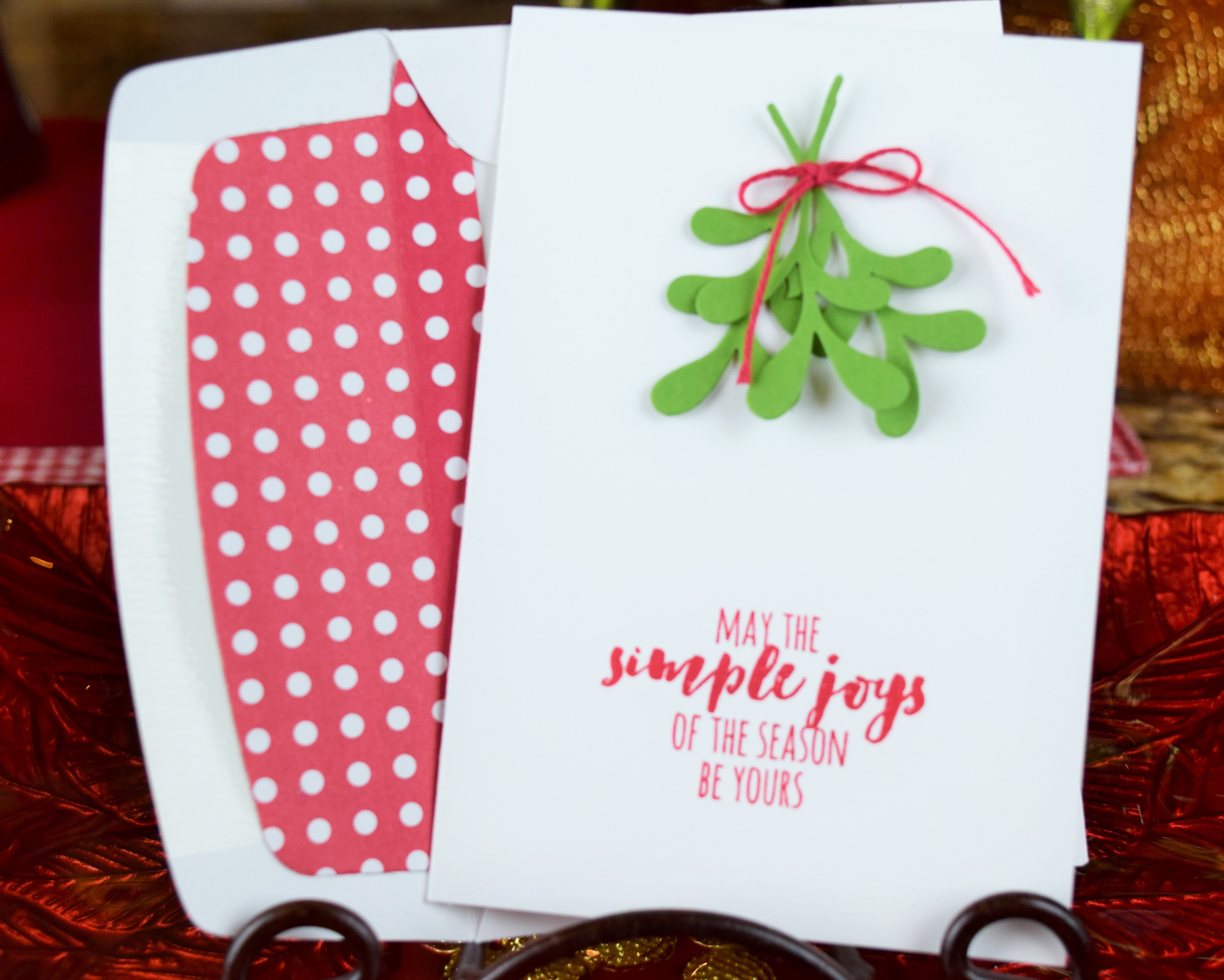 Sweet and Simple Christmas Card • Crafter Inspired