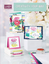 Cover of 2017-2018 Annual Stampin' Up Catalog shared by Lynda Falconer, Independent Stampin' Up Demonstrator at www.crafterinspired.com