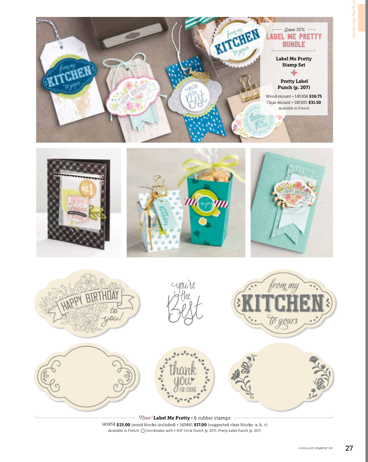 Label Me Pretty Bundle #145305 at www.lyndafalconer.stampinup.net