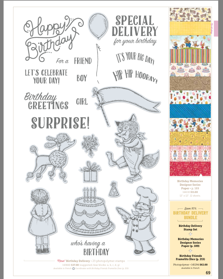 Birthday Delivery Bundle 145294 at www.lyndafalconer.stampinup.net