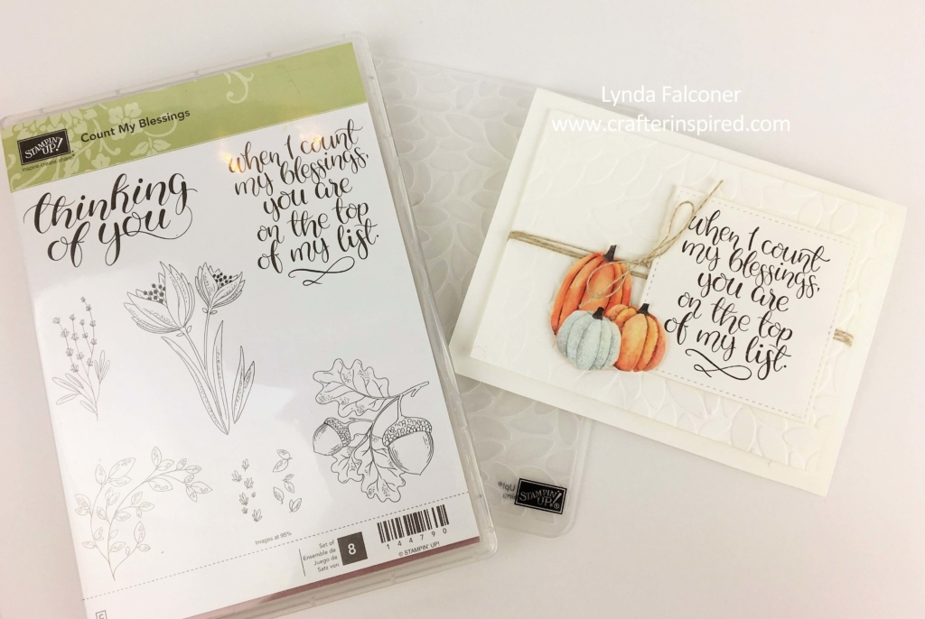 Fall Stampin' Up Card with Count My Blessings Stamp created by Lynda Falconer at www.lyndafalconer.stmpinup.net