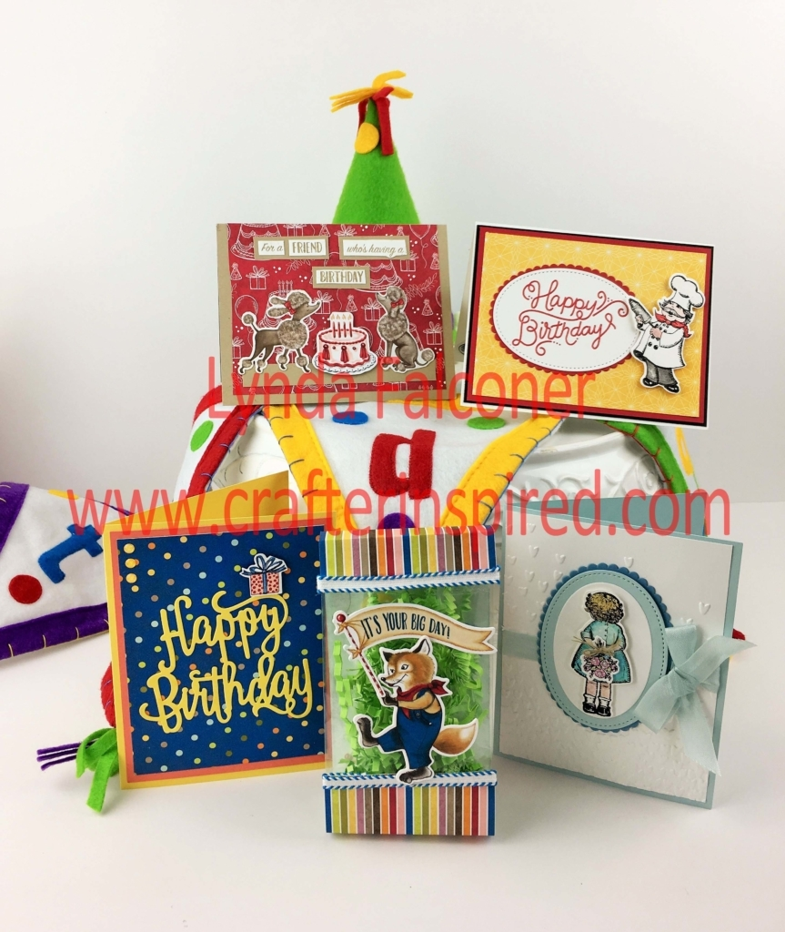 Free birthday card tutorials for these projects with purchase of Birthday Delivery Bundle from Stampin Up Demonstrator Lynda Falconer at www.lyndafalconer.stampinup.net