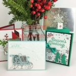 4 cards in online Christmas Card Class Register by October 26 at www.crafterinspired.com/classes