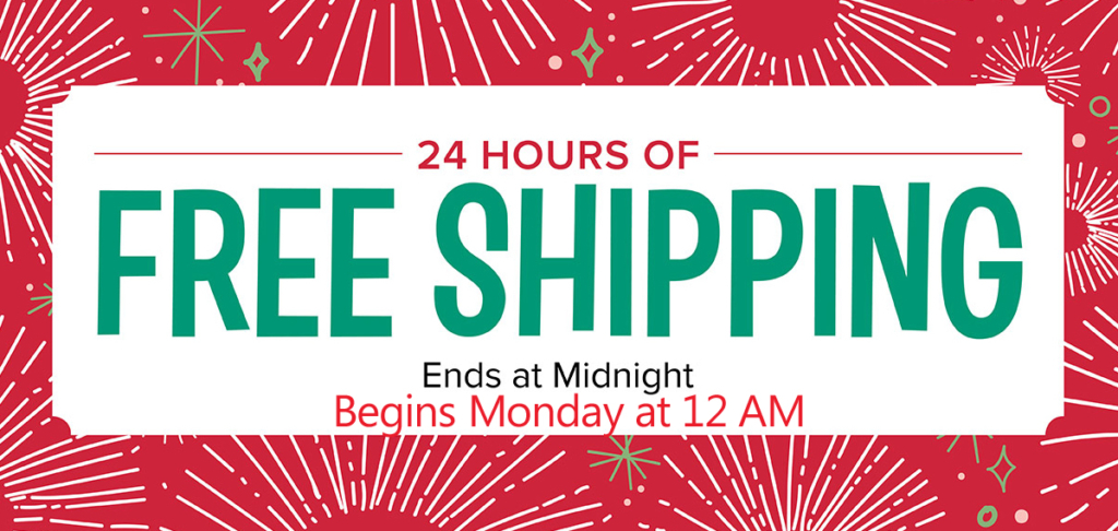 Free Shipping on all Stampin Up Orders Monday Dec. 11 at www.lyndafalconer.stampinup.net