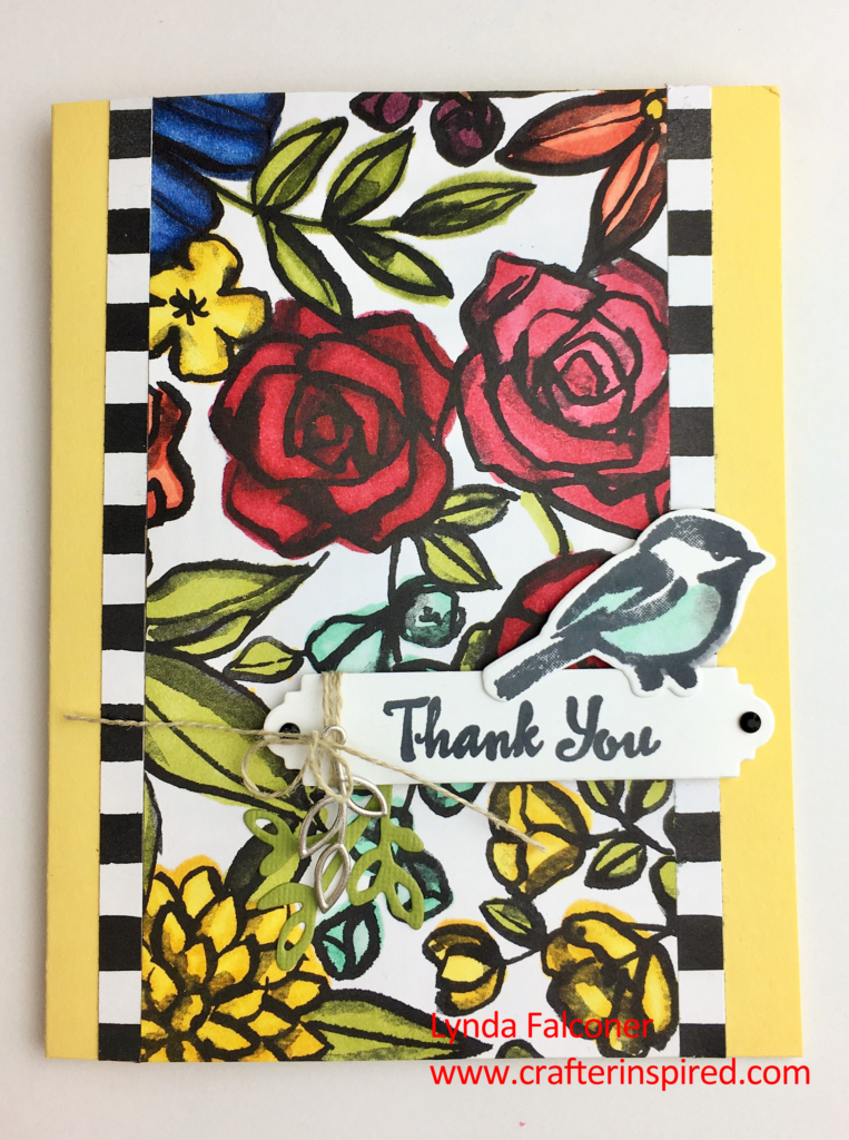 Petal Passion Designer Series Paper and Stampin' Up Blends Markers make this card by Lynda Falconer a work of art at www.crafterinspired.com