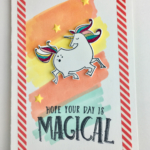 Unicorn card made with Stampin
