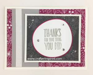 Make 10 cards quick with Memories & More Card Packs by Stampin Up. Cards designed by www.crafterinspired.com