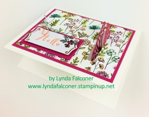 This butterfly flies INTO your card with butterflies thinlits and Share What You Love Suite at www.lyndafalconer.stampinup.net
