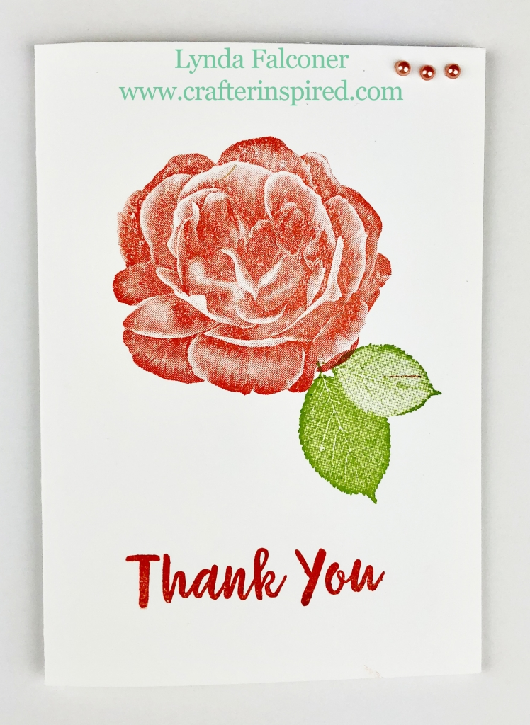 Simple Thank You Card featuring Healing Hugs Stamp Set created by Lynda Falconer at www.lyndafalconer.stampinup.net