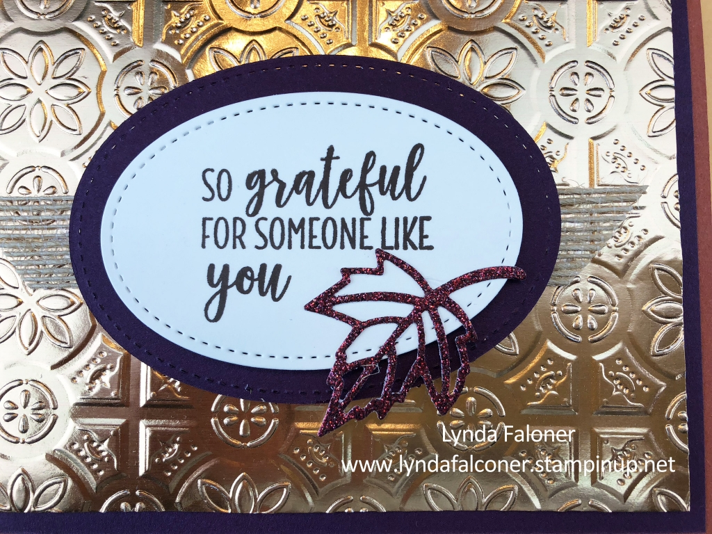 Sentiment for Easy Fall Card by Lynda Falconer at www.lyndafalconer.stampinup.net
