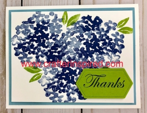 Simplified Hydrangea Birthday Card by www.crafterinspired.com