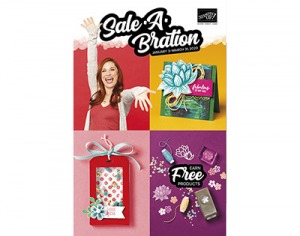 Saleabration brochure Free product with $50 purchase at lyndafalconer.stampinup.net