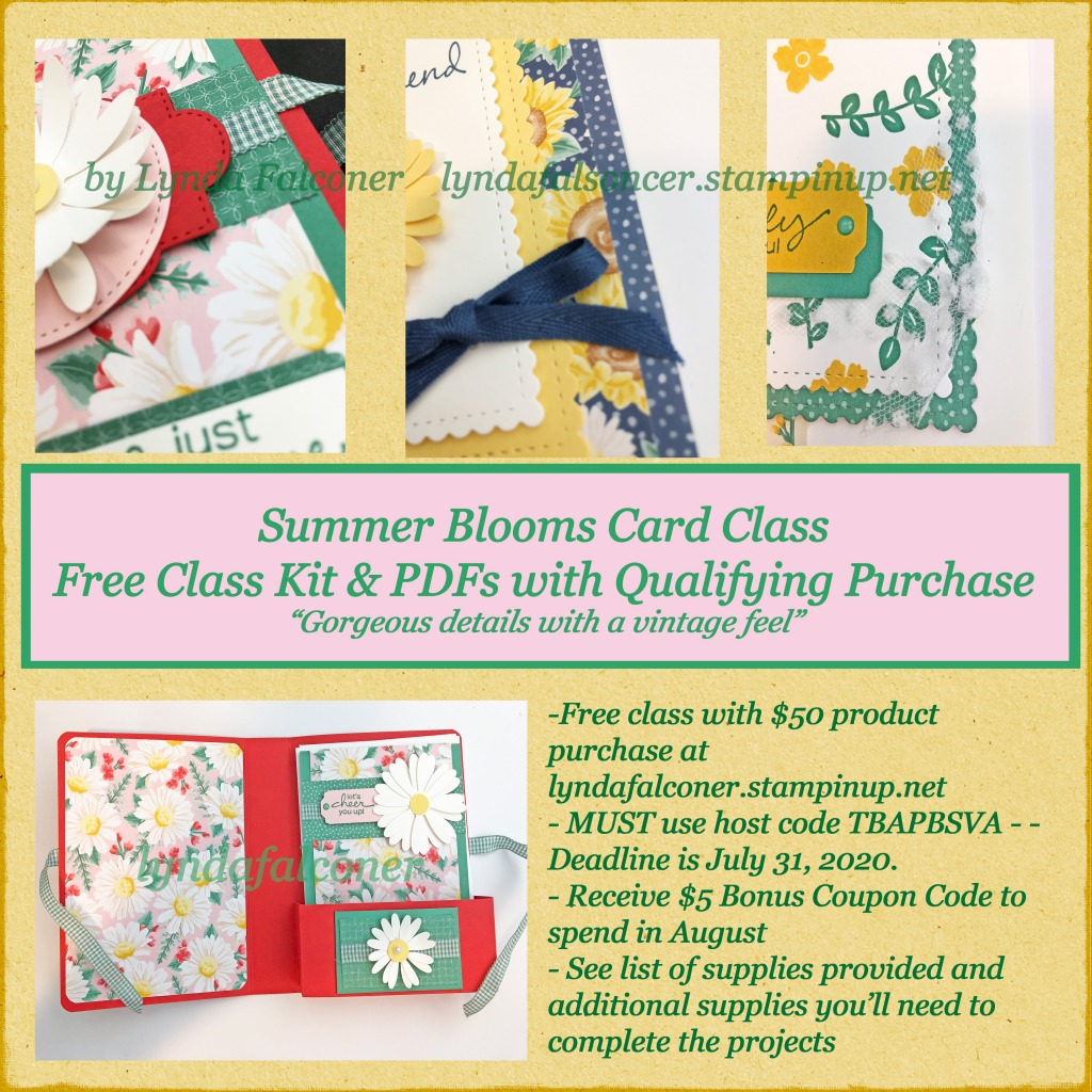 Summer Blooms Class To Go at www.crafterinspired.com/classes