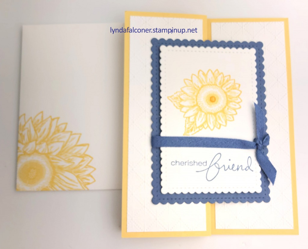 Sunflower Z Card by lyndafalconer.stampinup.net